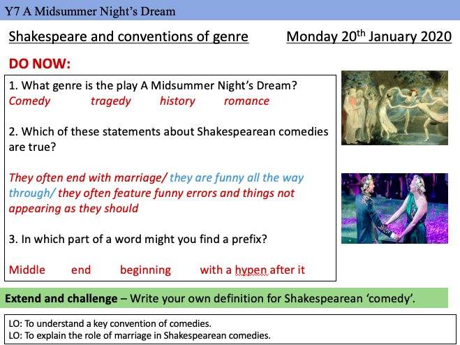 Midsummer Night's Dream Interview Lesson