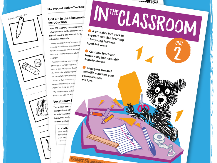 ESL/EFL Activity Pack: In the Classroom - ages 5-8 years