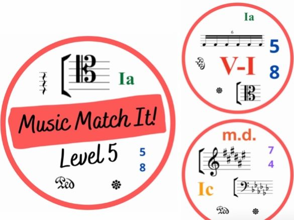 Music Match It Grade 5 Music Theory Dobble Style Card Game
