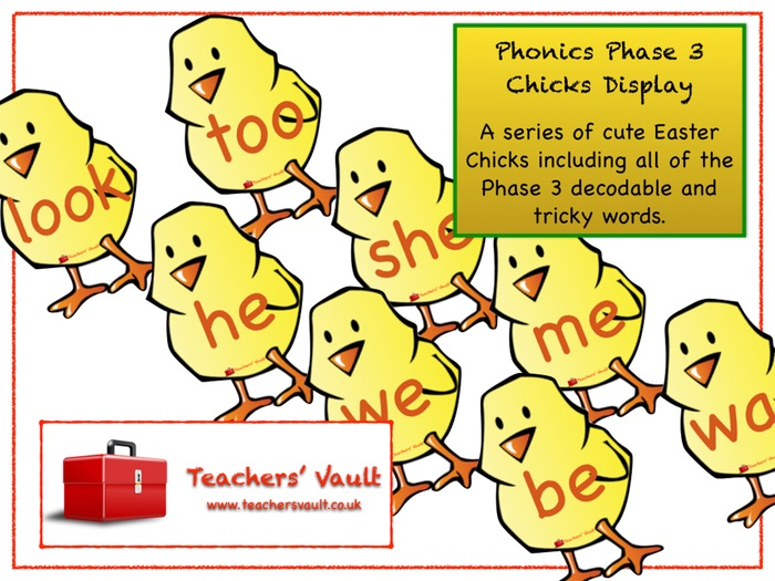 Phonics Phase 3 Chicks Display