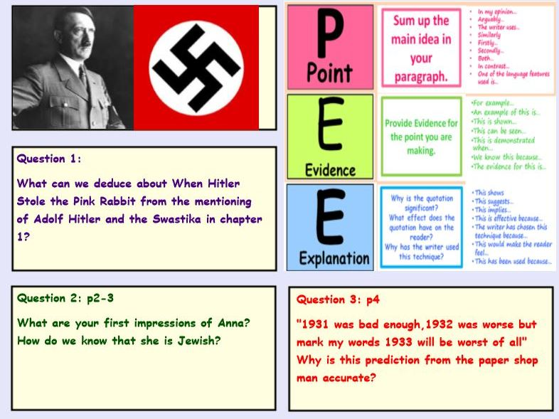 Year 5/6 - Guided Reading - When Hitler Stole Pink Rabbit