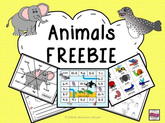 Animals Freebie Pack