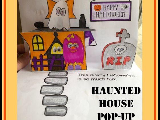 Hallowe'en Crafts - Haunted House POP-UP