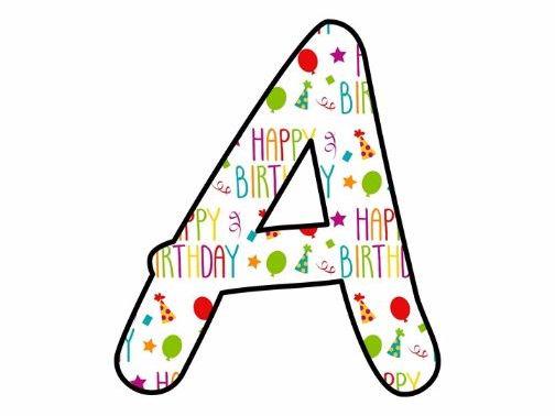 happy birthday lettering printables