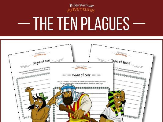 Ten Plagues: creative writing & coloring workbook