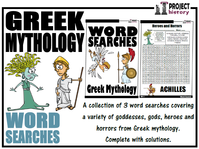 Greek Mythology Word Searches