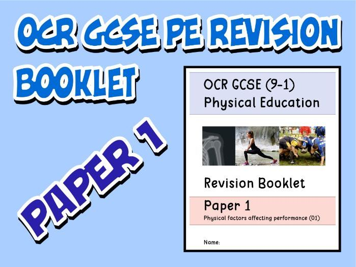OCR GCSE PE 9-1 (2016) Paper 1 Revision Booklet / Guide with Questions and Mark Scheme