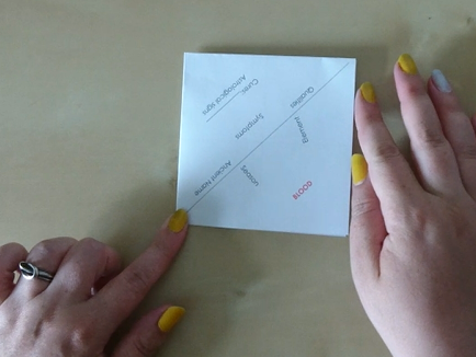 'Four Humours' fortune teller revision aid