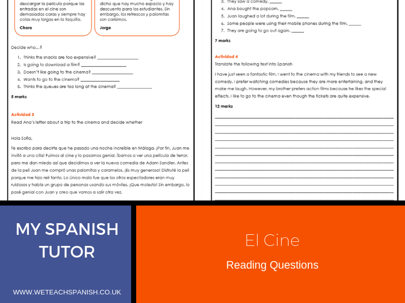 El Cine - Reading Pack