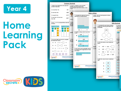 Year 4 Summer Week 1 Home Learning Maths Pack