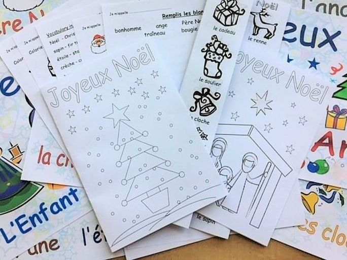 Primary French Christmas Resources Pack