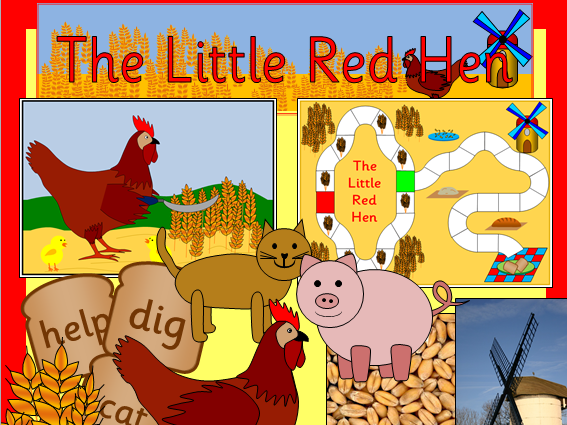The Little Red Hen story resources- activities, Powerpoint, Harvest