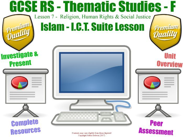 Islam - Religion, Human Rights & Social Justice - Unit Overview / Revision  (GCSE RS - L7/7]