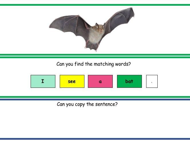 Build a Sentence - unifix sentence blocks template