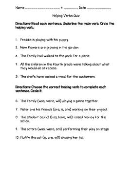 10 helping verbs