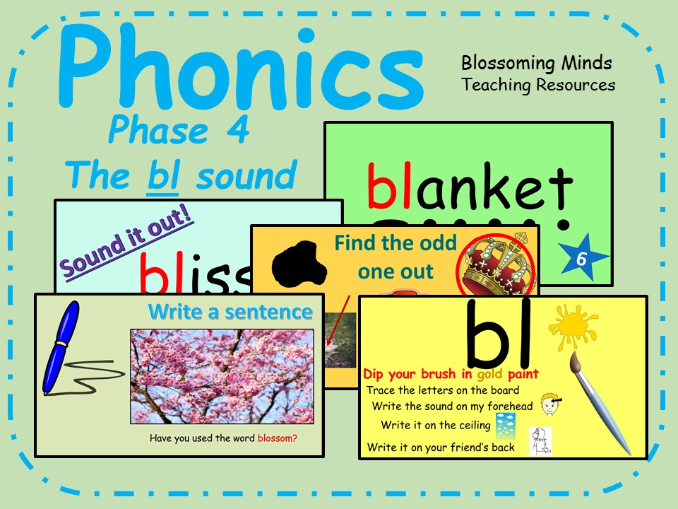 Phonics phase 4 - Consonant blends - The 'bl' sound