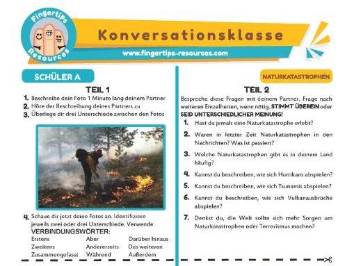 Naturkatastrophen - German Speaking Activity