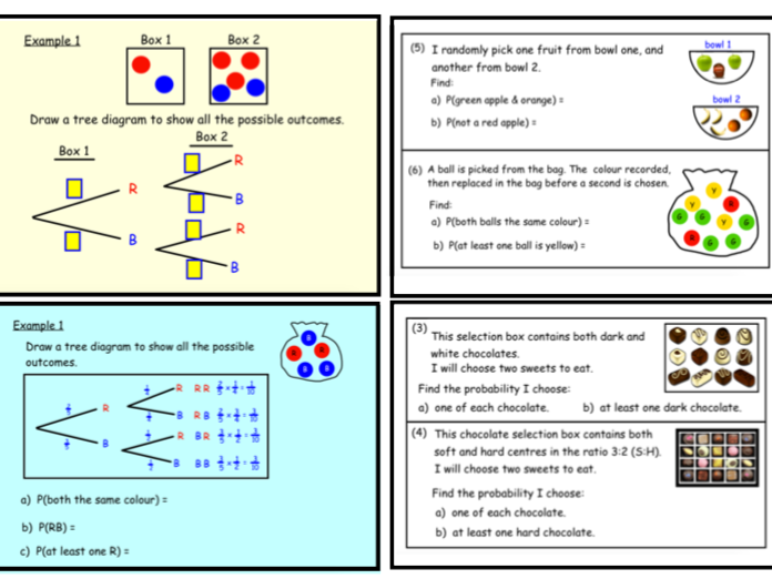 Probability Tree Diagrams (notebook)