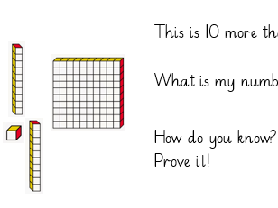 Adding 1, 10, 100 reasoning word problems