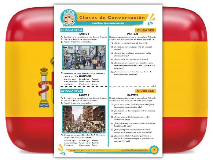 Ciudades - Spanish Speaking Activity
