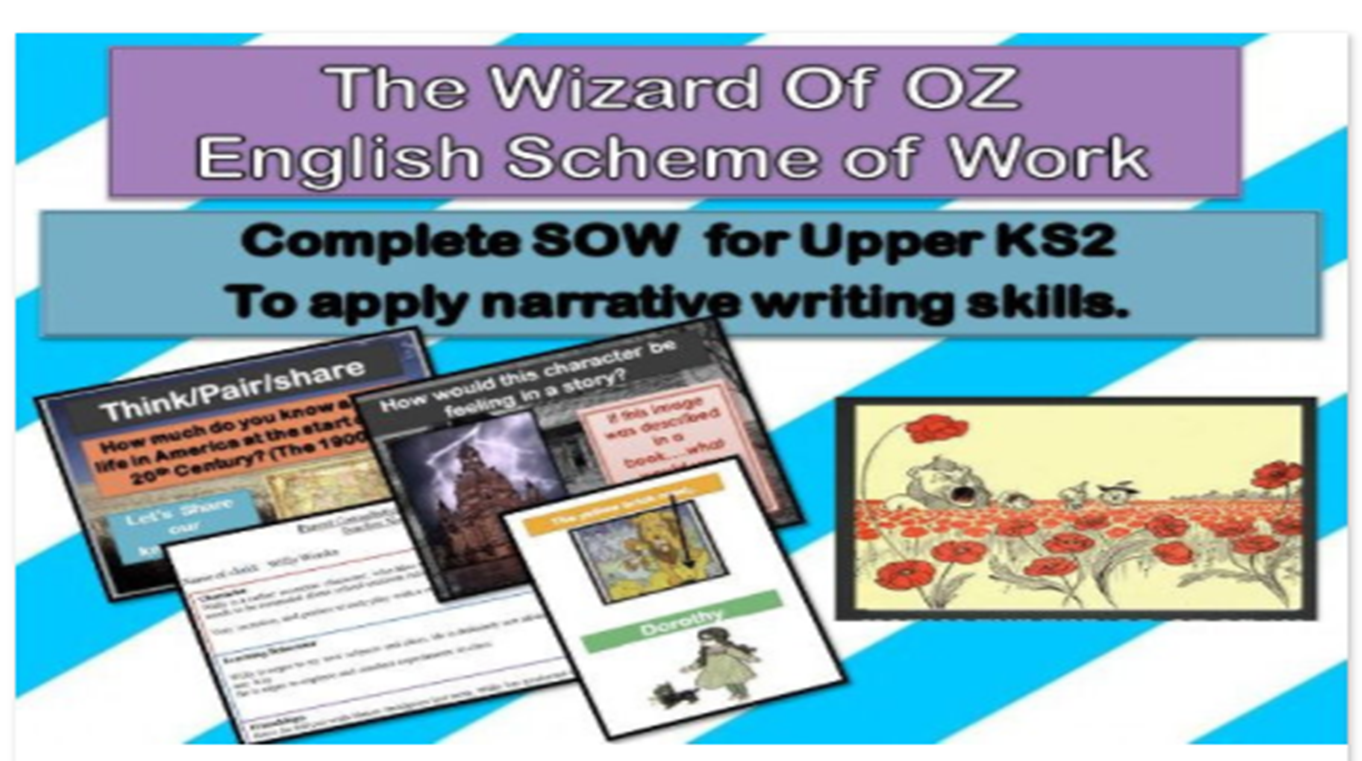 Mini Reading Comprehensions - The Wonderful Wizard of Oz -with ...
