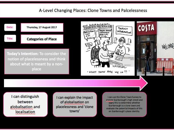 Changing Places Lesson 7- Placelessness and Clone Towns