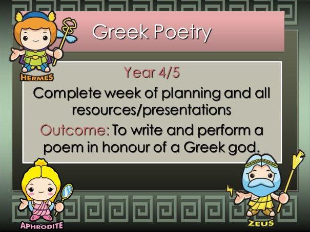 Ancient Greek Poetry   COMPLETE WEEK