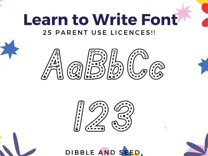 Letter Formation Font- Share With Parents (x 25 Licences) Learn to Write