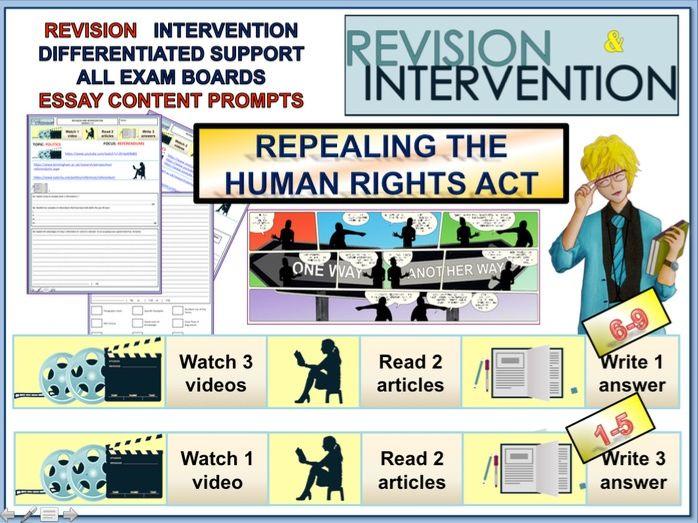 GCSE Citizenship 9-1  Revision -Human Rights