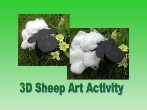 3D sheep art activity Spring