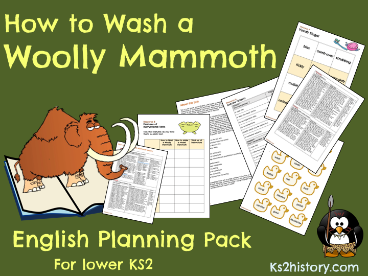 'How to Wash a Woolly Mammoth' Planning Pack (Stone Age Instructions Unit)