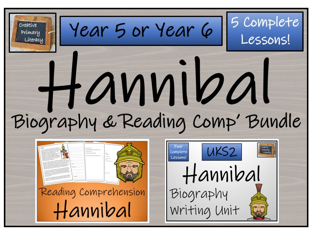 UKS2 History - Hannibal Reading Comprehension & Biography Bundle