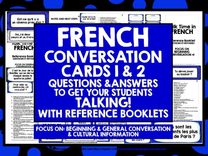 FRENCH CONVERSATION CARDS 1&2