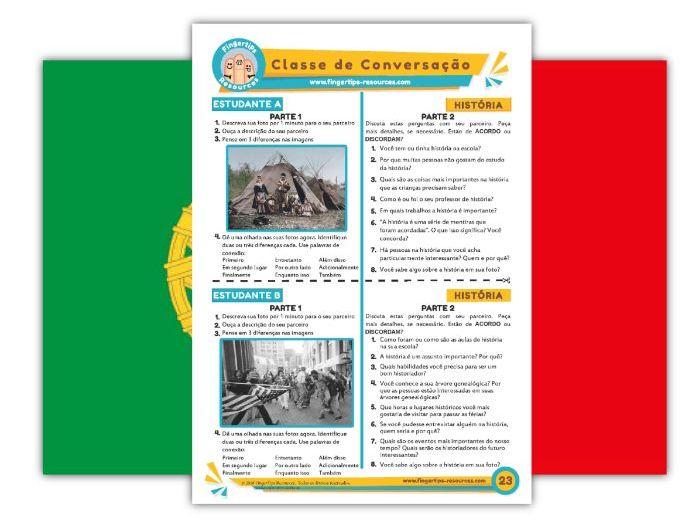 História - Portuguese Speaking Activity