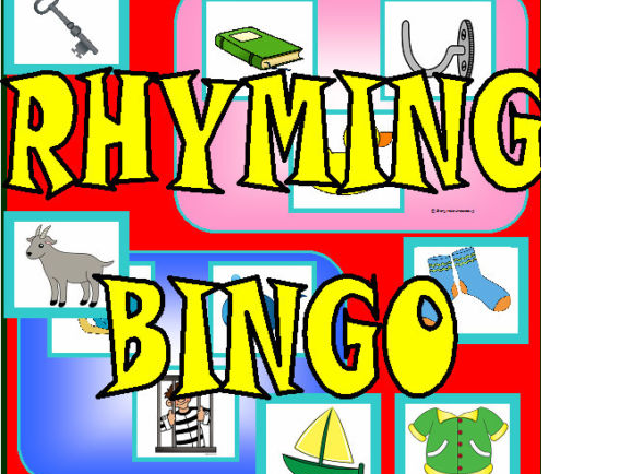 RHYMING BINGO - LETTERS AND SOUNDS PHASE 1 LITERACY KS1 EYFS CHILDMINDER Game