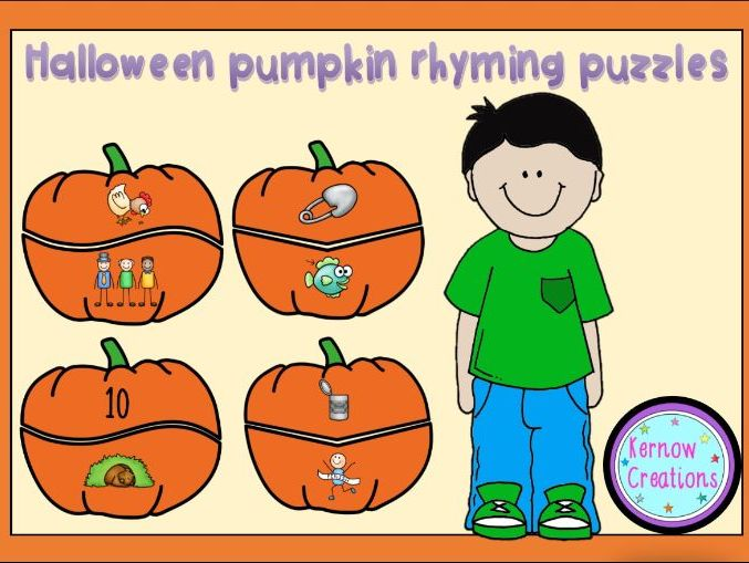 Halloween Pumpkin Rhyming Puzzle