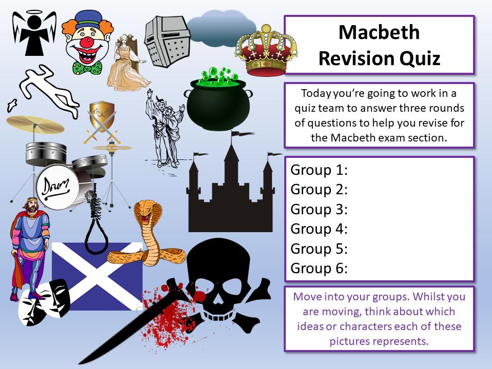 English Literature Revision Quizzes