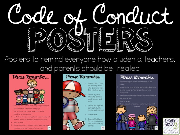 Code of Conduct Posters