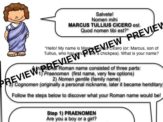 Discover your Roman name