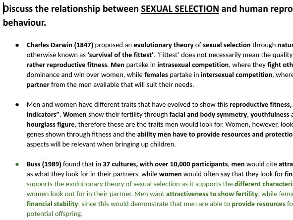PSYCHOLOGY RELATIONSHIP 16 MARKERS