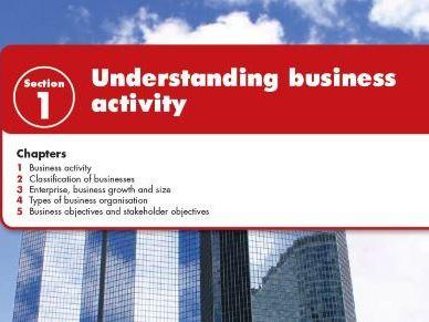 Understanding Business Activity IGCSE Business studies