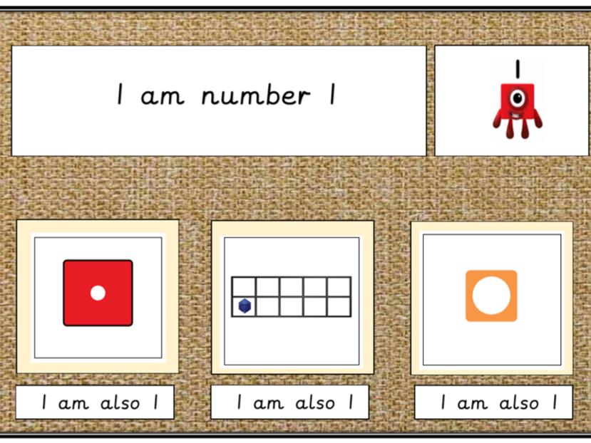 Representing 1-10 using Numberblocks Ten Frames and Dice