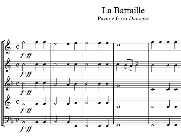 Pavane Battaille (Brass Quintet)