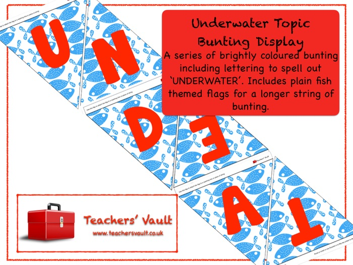 Underwater Topic Bunting Display