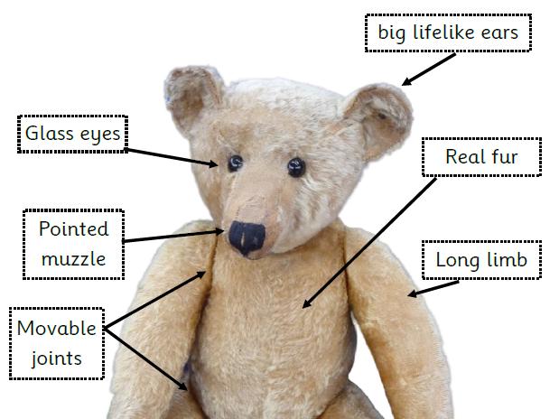 Old New Teddy Bear Label