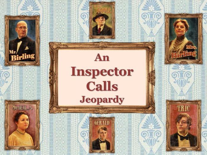 An Inspector Calls Jeopardy Quiz