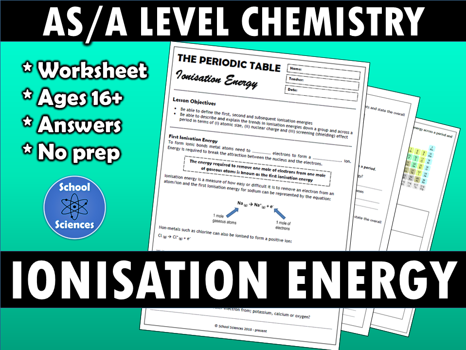 Trends in the Periodic Table - Ionisation Energy