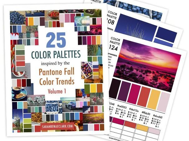 25 Color Palettes inspired by the Pantone Fall Color Trends (Volume 1)