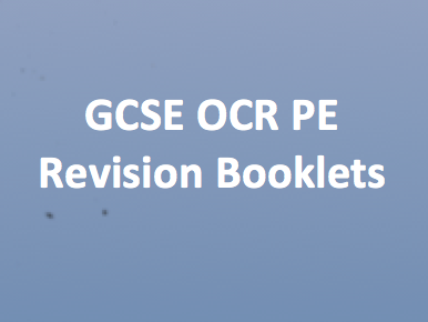 Revision booklet: components of fitness and principles of training.