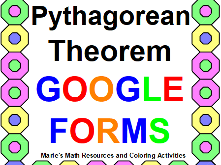 PYTHAGOREAN THEOREM & CONVERSE: GOOGLE FORMS QUIZ (PROB. 32) DISTANCE LEARNING